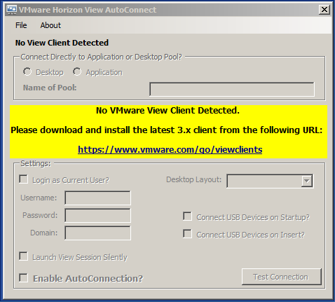 VMware Horizon View AutoConnection Utility – UPDATE | Virtual Thoughts