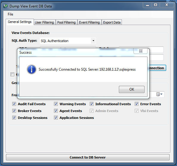 VMware Horizon View Events Database Export Utilty | Virtual